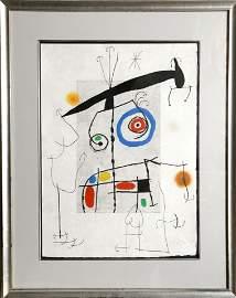 Joan Miro, L'homme au Balancier, Aquatint, Etching and