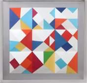 Yaacov Agam, Nines, 3D Screenprint on folded paper