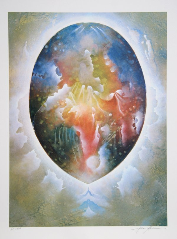 1002: Isaac Abrams, Cosmic Egg, Lithograph