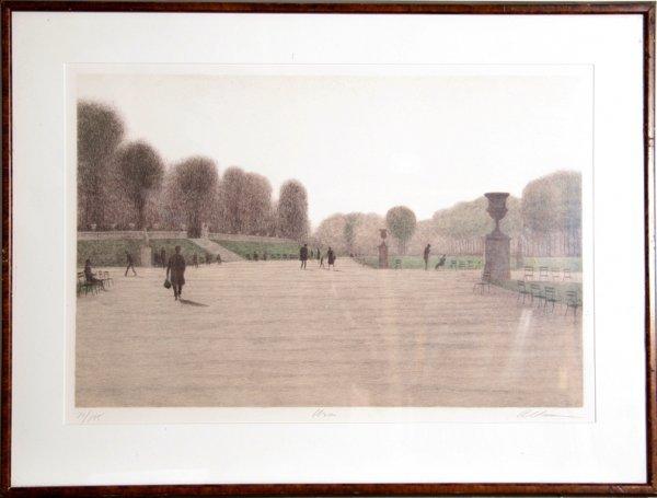 1005: Harold Altman, Urns, Framed Lithograph