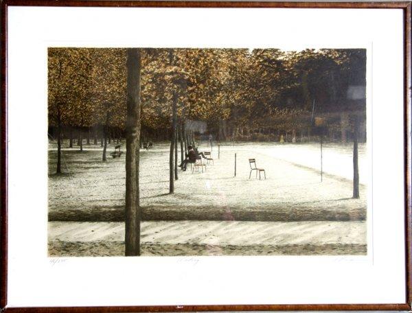 1006: Harold Altman, Waiting, Framed Lithograph