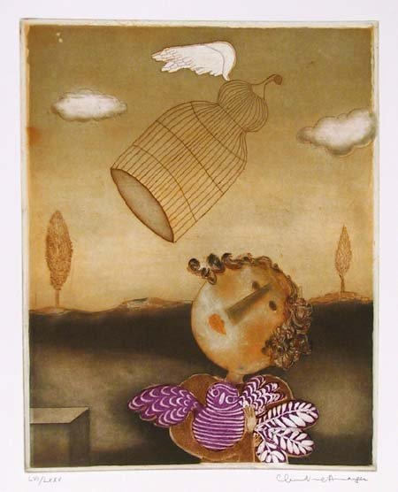 1007: Christine Amarger, French Aquatint Etching