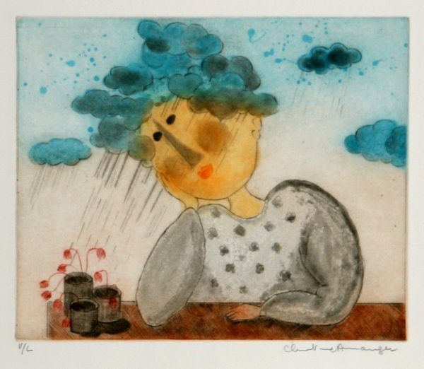 1008: Christine Amarger, French Aquatint Etching