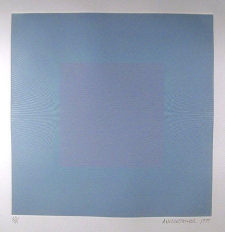 1015: Richard Anuszkiewicz, Op-Art Intaglio Etching