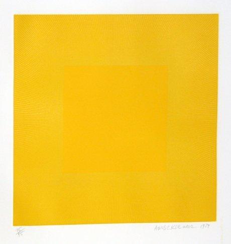 1016: Richard Anuszkiewicz, Op-Art Intaglio Etching