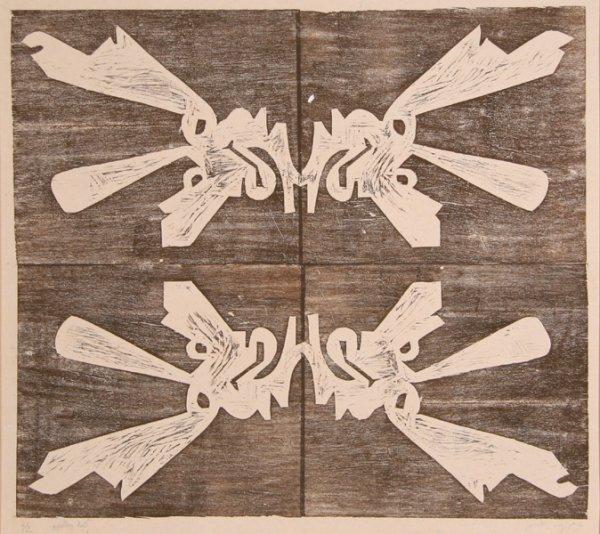 1017: Ruth Appelberg, Bones, Woodcut
