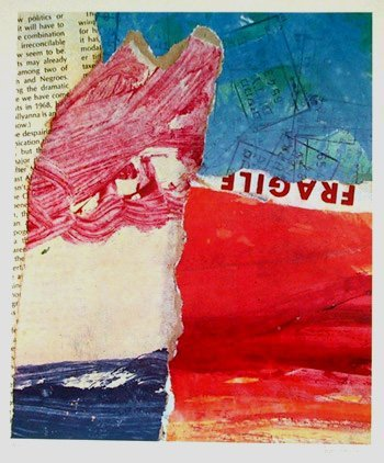 1019: Ben Aritz, Abstract Collage, Lithograph