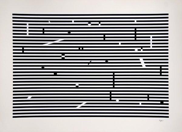 2000: Yaacov Agam, Op-Art Serigraph