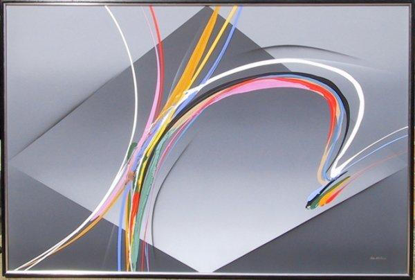 2006: Elba Alvarez, Grey Action, Venezuelan Painting