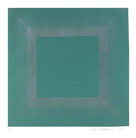 2010: Richard Anuszkiewicz, Op-Art Intaglio Etching
