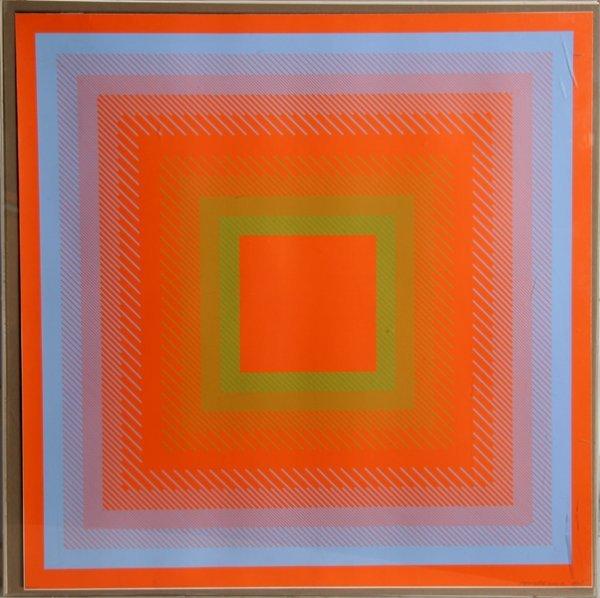 2013: Richard Anuszkiewicz, Spectral Cadmium, Silkscree
