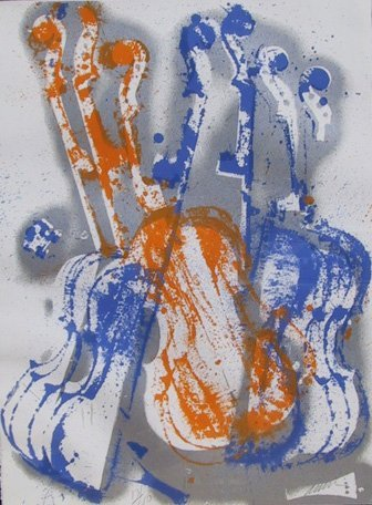 2017: Arman, Blue and Orange Pizzicato, Serigraph