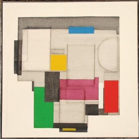 2023: Norio Azuma, Day Abstract Serigraph on Canvas