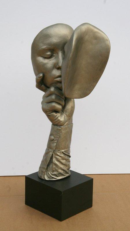 2358: John Cutrone, The Kiss, Sculpture - 2