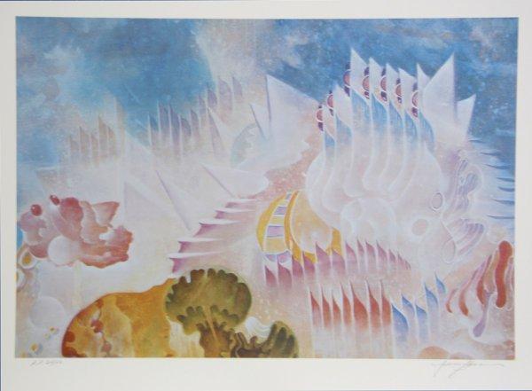 3001: Isaac Abrams, Atlantis, Lithograph