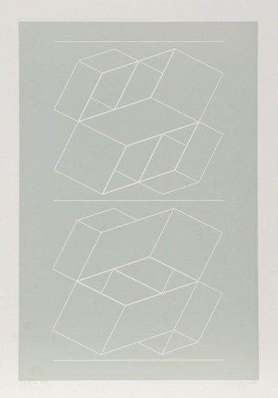 3003: Josef Albers, Geometric Op-Art Intaglio Etching