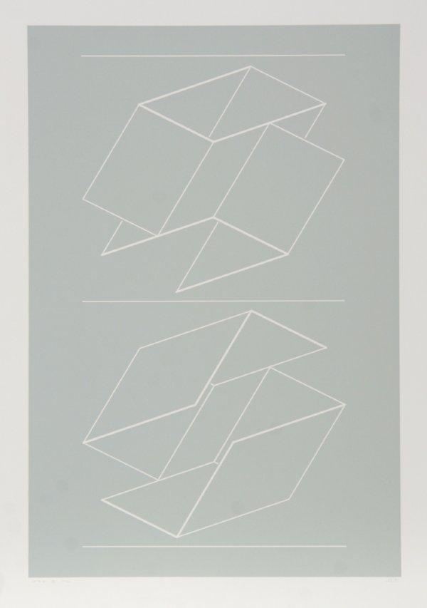 3004: Josef Albers, Geometric Op-Art Intaglio Etching