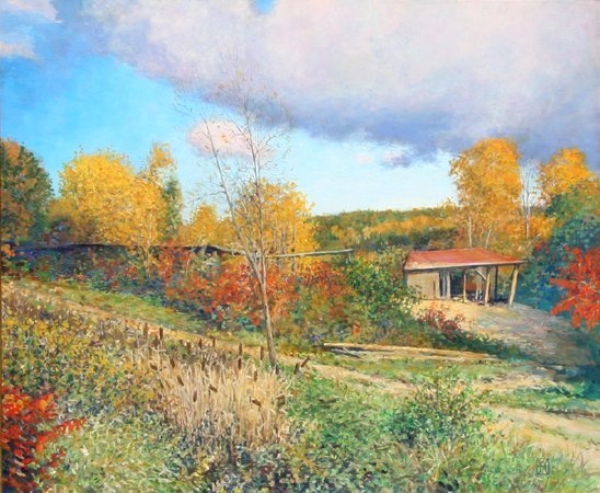 3007: Wally Ames, Old Sawmill, Westminster VT, Painting