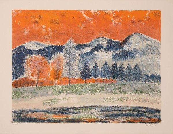 3020: Guy Bardone, Les Montagnes, Lithograph