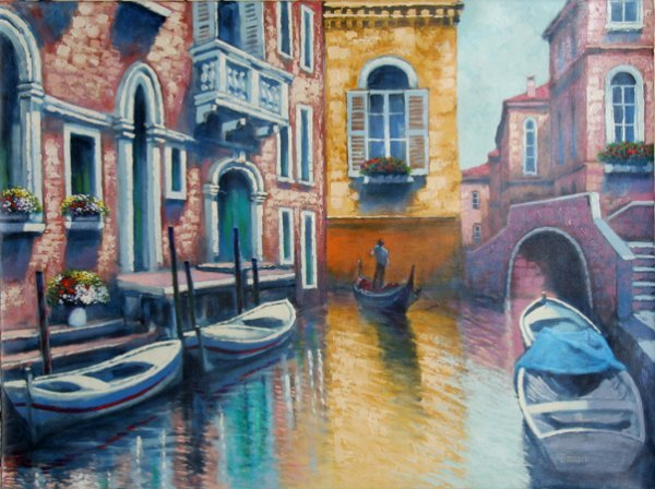 3022: Bassari, Venice Canal, Painting