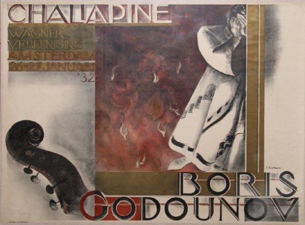 3206: Johan S. Sjollema, Boris Godounov, Poster