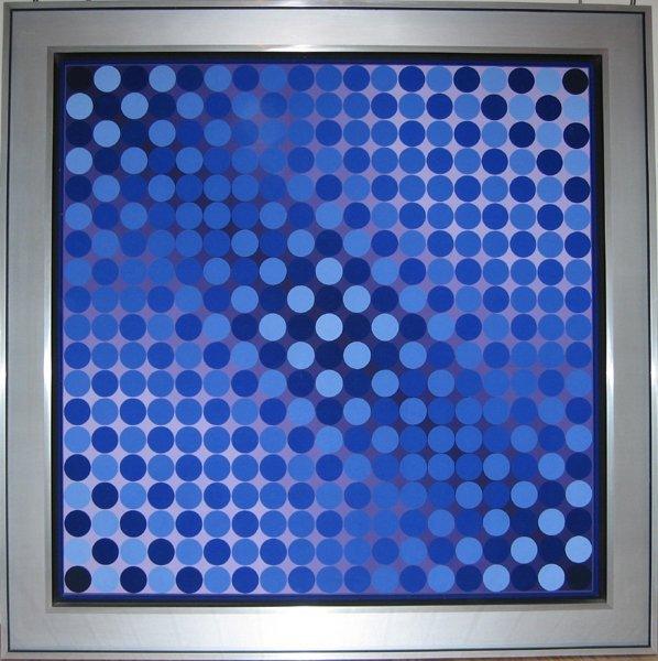 3234: Victor Vasarely, CTA - LILA, OP Art Painting