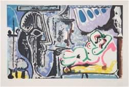3669: Pablo Picasso, Le Peintre Et Son Modele, Lithogra