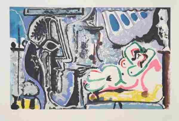 Pablo Picasso, Le Peintre Et Son Modele, Lithogra
