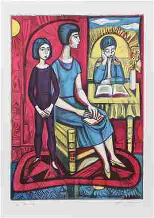 Irving Amen, Family, Lithograph