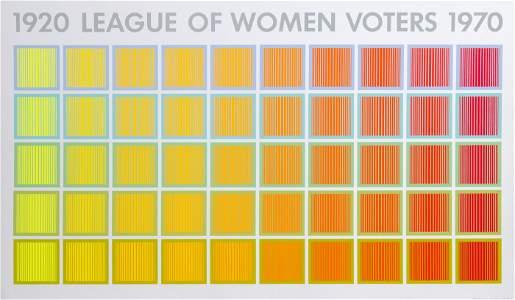 Richard Anuszkiewicz, 1920 League of Women Voters,