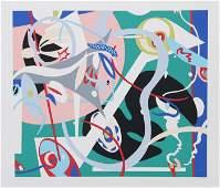 Nina Paull, Sea and Field, Screenprint