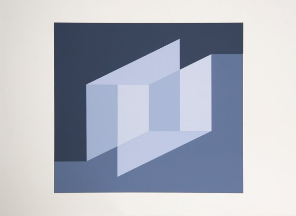 3: Josef Albers, Op-Art Geometric Silkscreen