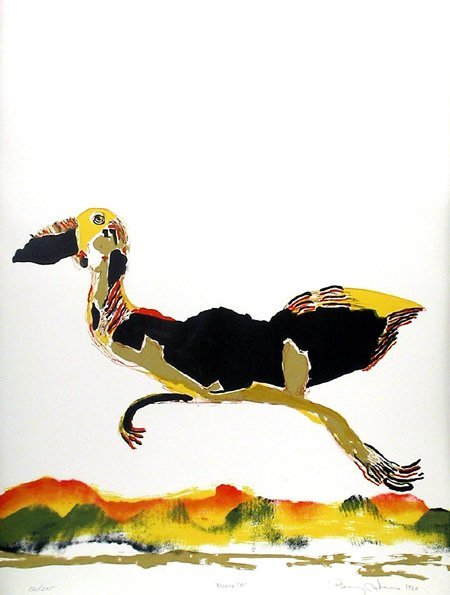 9: Benny Andrews, Moving On, Lithograph