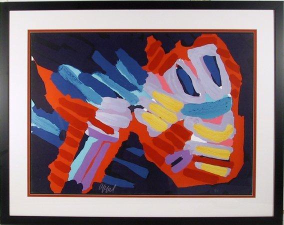12: Karel Appel, Framed Lithograph