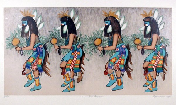 17: Alice Asmar, Zuni rain dancers, Lithograph