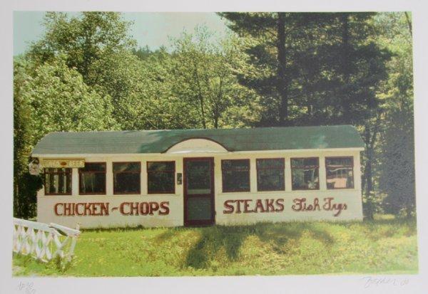 23: John Baeder, Chicken, Chops, Steaks, Serigraph