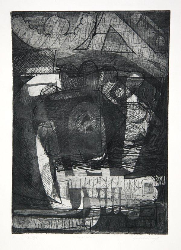 24: Amitabha Banerjee, Composition, Etching