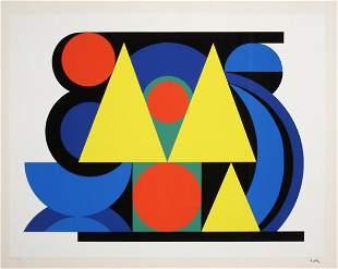 106: Auguste Herbin, Alphabet Plastique II, Silkscreen