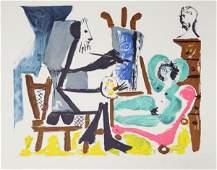 478: Pablo Picasso, Le peintre et son modele, Lithograp