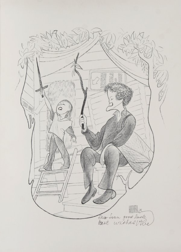 6: Al Hirschfeld, Tree House, Lithograph