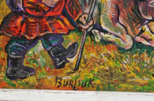 16: David Burliuk, Man and Woman in Field, Painting - 2