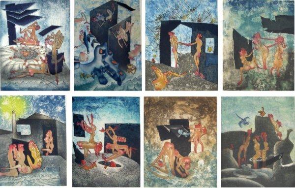 1: Roberto Matta, La Danse de la Mort, Portfolio of 8 E