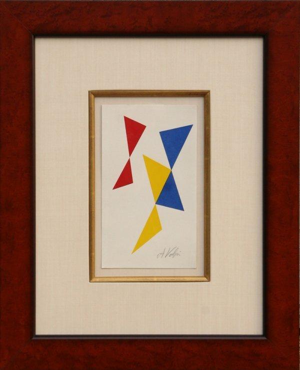 17: Alfredo Volpi, Framed Brazilian Silkscreen