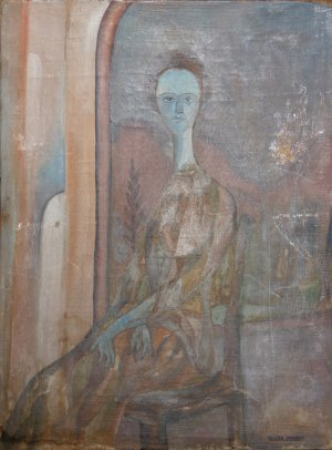 70: Felipe Orlando, Portrait de Femme, Painting