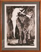 206: Francisco Toledo, Woman with Bull, Lithograph