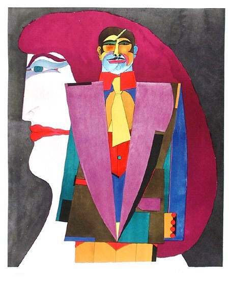 14: Richard Lindner, Couple I, Lithograph