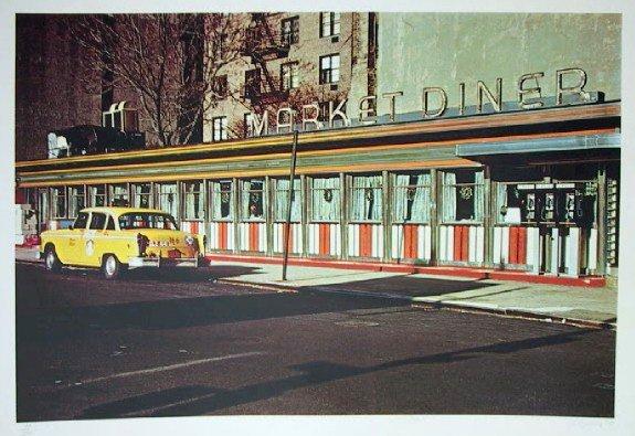 1: John Baeder, Market Diner, Serigraph