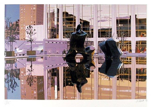 5: Fran Bull, Lincoln Center, Dusk, Silkscreen