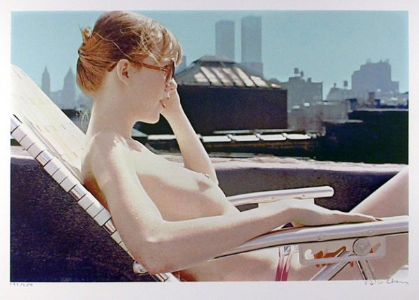 6: Hilo Chen, Roof-top Sunbather, Silkscreen
