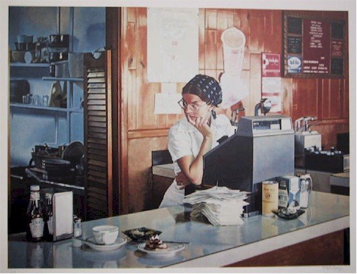 7: Ralph Goings, One-Eleven Diner, Lithograph